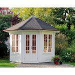 Garten Pavillion Garten Garten Pavillion Pavillon Holz Baugenehmigung Gartenpavillon Holzhaus / Metallpavillon Sun Antik Kupfer Look Holzdach 3x3m Zelt Rund Metall Aus 3x3 Mit