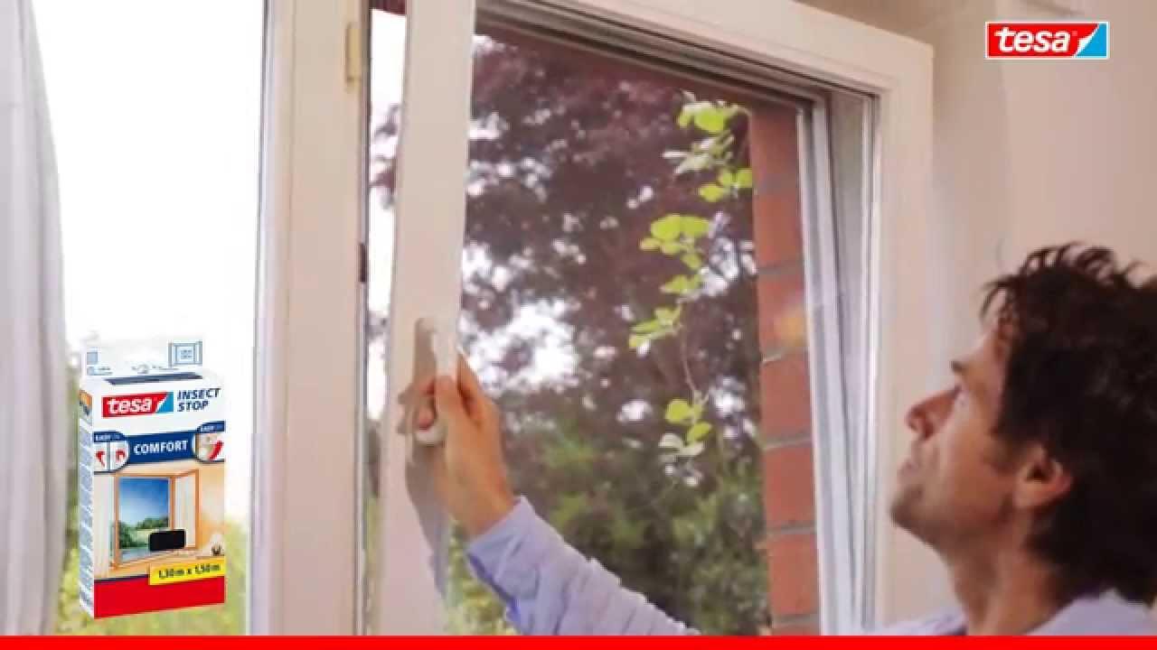 Full Size of Fliegennetz Fenster Tesa Fliegengitter Fr Youtube Sichtschutzfolie Einbruchschutz Holz Alu Bauhaus Sonnenschutz Für Aron Folie Schräge Abdunkeln Velux Kaufen Fenster Fliegennetz Fenster