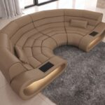 Big Sofa Leder Bigsofa Concept Mit Ottomane Und Led Beleuchtung Lounge Garten Kolonialstil Weiß Lila Angebote überzug Kissen Schlafsofa Liegefläche 180x200 Sofa Big Sofa Leder
