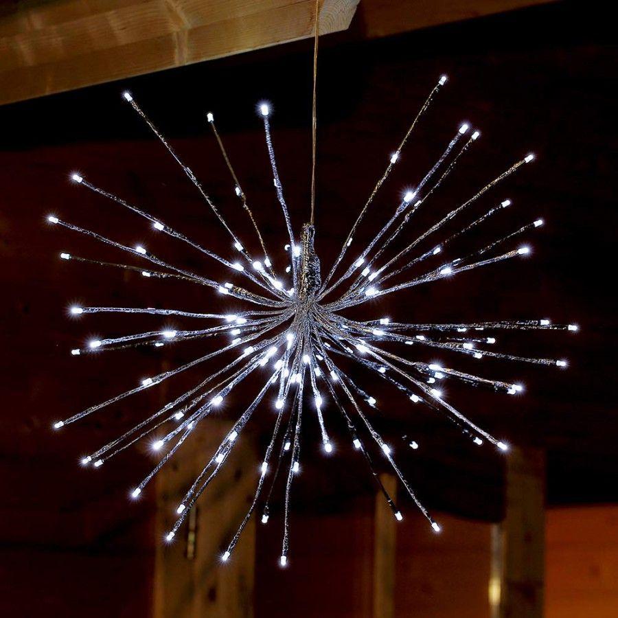Full Size of Weihnachtsbeleuchtung Fenster Ohne Kabel Amazon Innen Bunt Fensterbank Kabellos Sternenball Mit 129 Led An 43 Silbernen Stben Zur Innendekoration Fenster Weihnachtsbeleuchtung Fenster