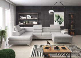 Sofa Stoff Grau