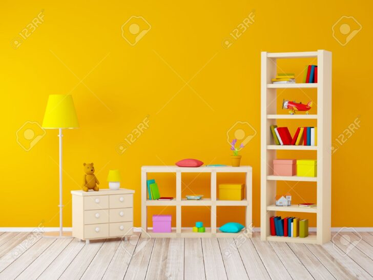 Medium Size of Mit Bcherregalen Spielzeug An Orange Wand Sofa Regal Weiß Regale Kinderzimmer Bücherregal Kinderzimmer