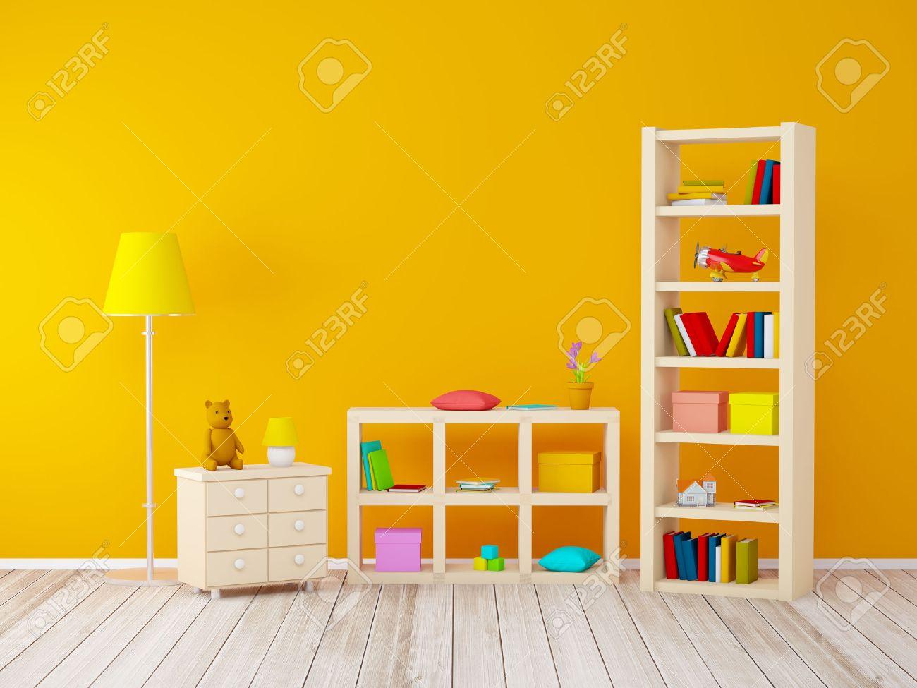 Full Size of Mit Bcherregalen Spielzeug An Orange Wand Sofa Regal Weiß Regale Kinderzimmer Bücherregal Kinderzimmer