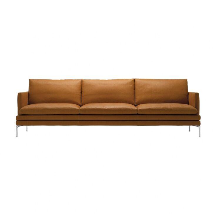 Sofa Cognac Wohnzimmer Couch Mejan In Braun Recyclingleder ...