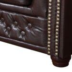 Sofa Kunstleder Edles Chesterfield 3 Sitzer In Braun Couch Le Corbusier Canape Hersteller Dauerschläfer Big Schlafsofa Liegefläche 180x200 Ohne Lehne Bezug Sofa Sofa Kunstleder