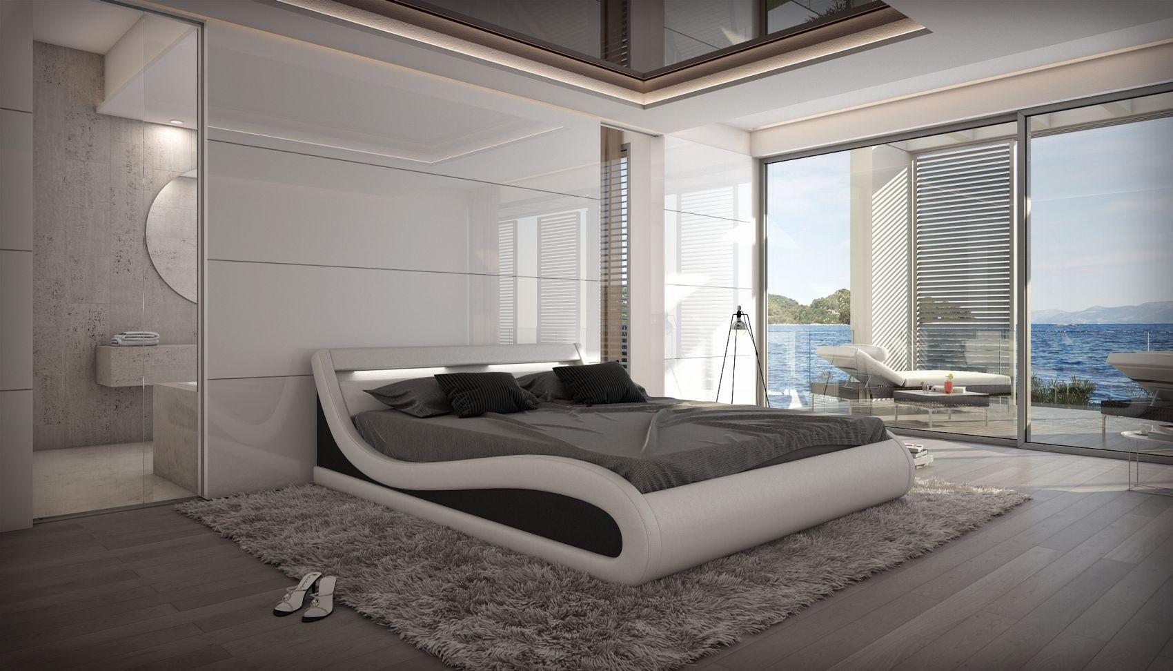Full Size of Gnstiges Designer Bett Caserta Inklusive Led Beleuchtung Bestes 160x220 Betten Weiß Billerbeck 120x200 180x200 Mit Lattenrost Und Matratze Wasser 120x190 Bett Günstiges Bett