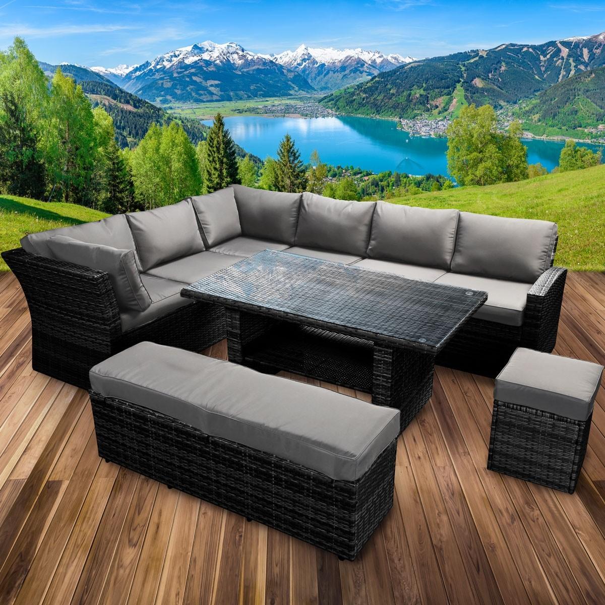 Full Size of Polyrattan Sofa Tchibo Grau Gartensofa Lounge Couch Ausziehbar 2 Sitzer Balkon Garden Set Rattan Outdoor 2 Sitzer Essgruppe Holidays Schwarz Brast24de Muuto Sofa Polyrattan Sofa