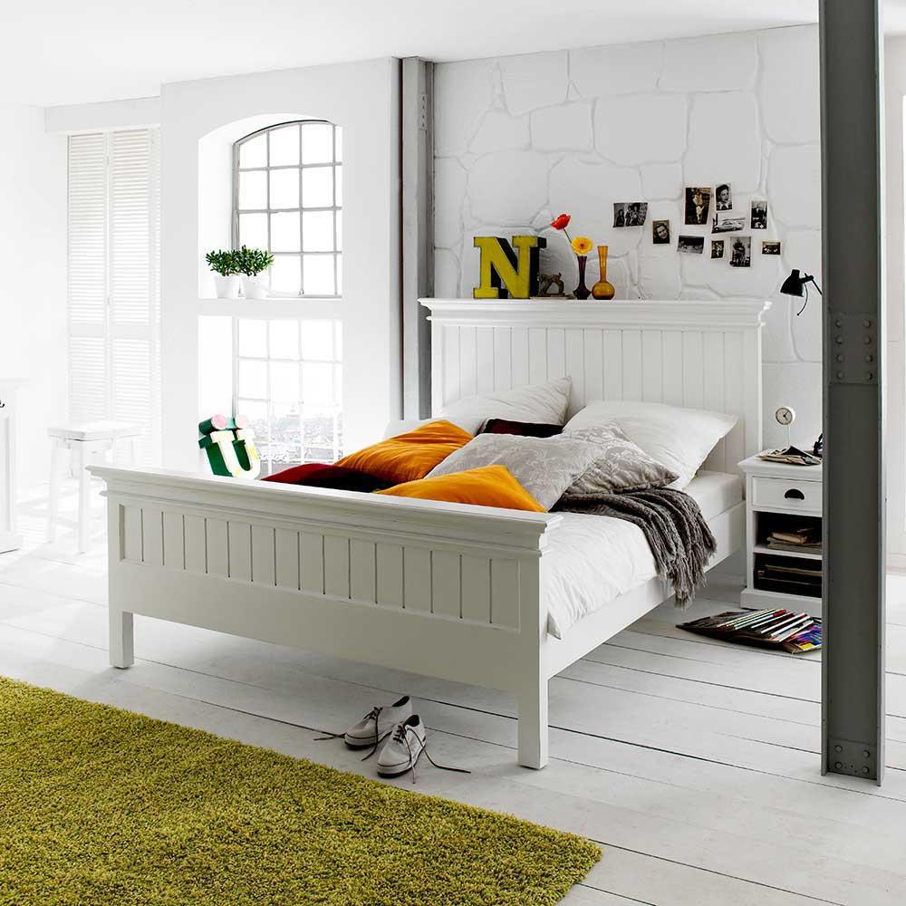 Full Size of Landhausbett Lacromas In Wei Mit Komforthhe Pharao24de Bett Konfigurieren Massiv 180x200 Sofa Bettfunktion Schrank Kleinkind Im 2m X überlänge 200x200 Bett Bett Komforthöhe