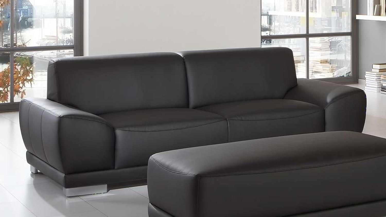Full Size of Sofa Garnitur 2 Teilig Sofagarnitur Manila 3 Sitzer Hocker In Schwarz Mit Federkern Regal 25 Cm Breit Esstisch 2m 2er Grau 200x200 Bett 120x200 Günstige U Sofa Sofa Garnitur 2 Teilig