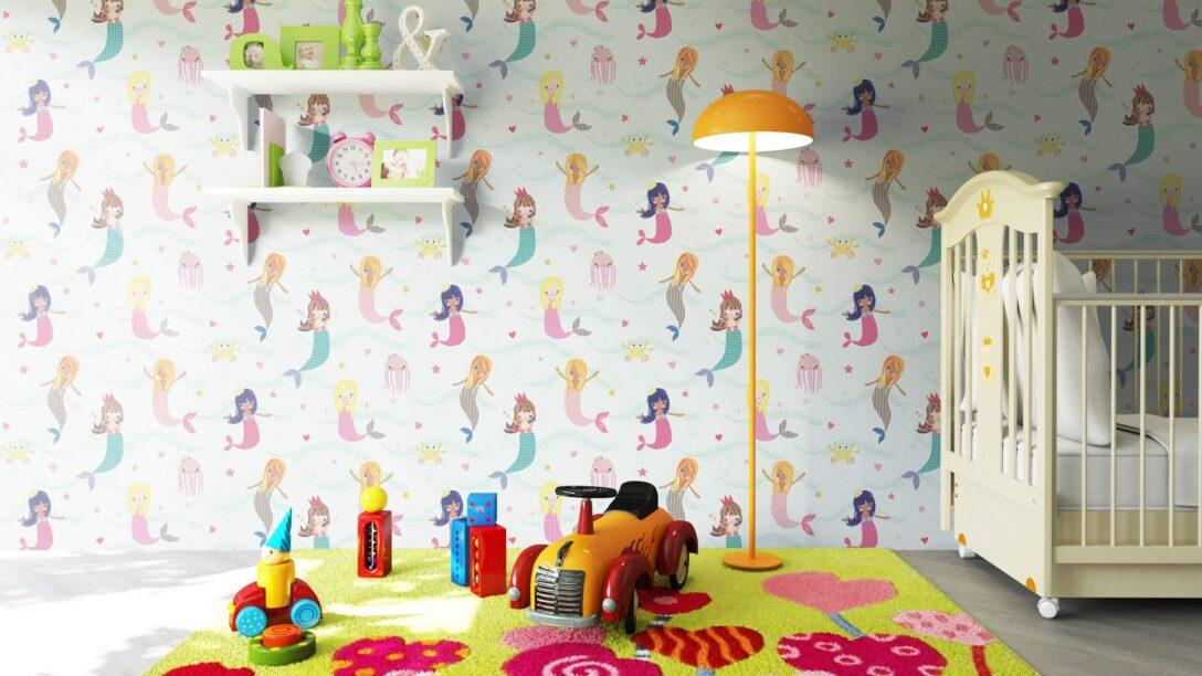 Large Size of Tapeten Kinderzimmer Papiertapete Blau Meerjungfrauen Meer Kinder Fototapeten Wohnzimmer Ideen Für Küche Sofa Regal Schlafzimmer Die Regale Weiß Kinderzimmer Tapeten Kinderzimmer