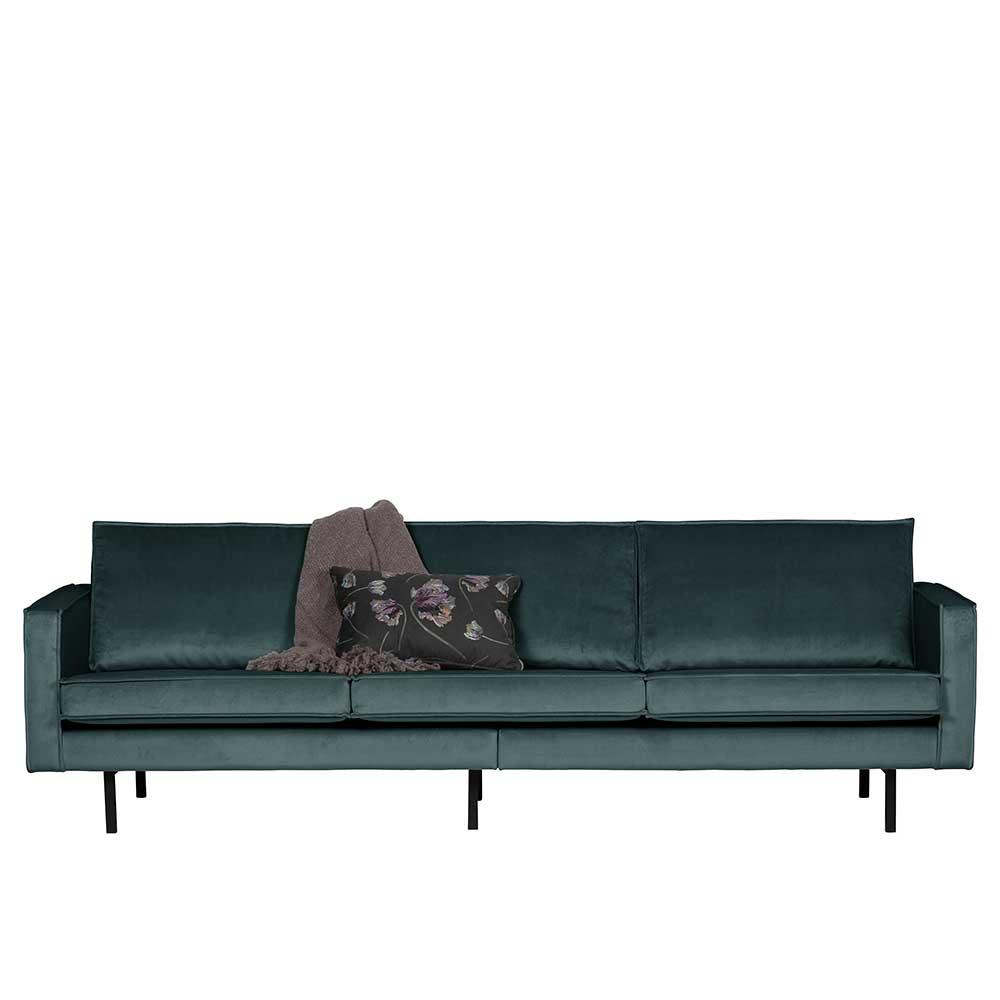 Full Size of Wohnzimmer Couch Maiwos In Petrol Samt Im Retrostil Pharao24de Sofa Boxspring 2 5 Sitzer Mit Led Xora Online Kaufen Relaxfunktion Elektrisch Canape Big L Form Sofa Sofa Samt