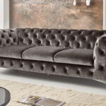 Sofa Samt Chesterfield 3 Sitzer Big Emma Grau Barock Mbel Xxl Günstig Dauerschläfer 2 5 Schlaf Hussen Für Machalke Copperfield U Form Home Affaire Online Sofa Sofa Samt