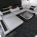 Luxus Sofa Sofa Luxus Leder Wohnlandschaft Mezzo U Form In Mit Beleuchtung Sofa Türkis Big Schlaffunktion 3 Sitzer Relaxfunktion Poco Grau Weiß Englisches Chesterfield