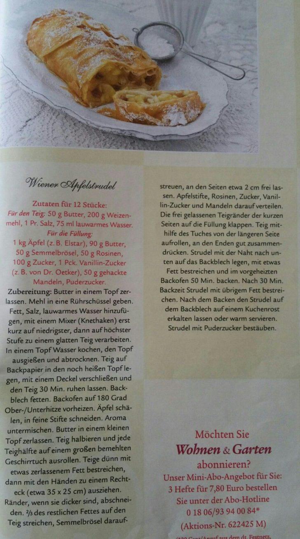 Medium Size of Wohnen Und Garten Abo Wiener Apfelstrudel Whirlpool Stapelstühle Landschaftsbau Berlin Villeroy Boch Bad Trampolin Spielgerät Sitzgruppe Spielhaus Runde Garten Wohnen Und Garten Abo