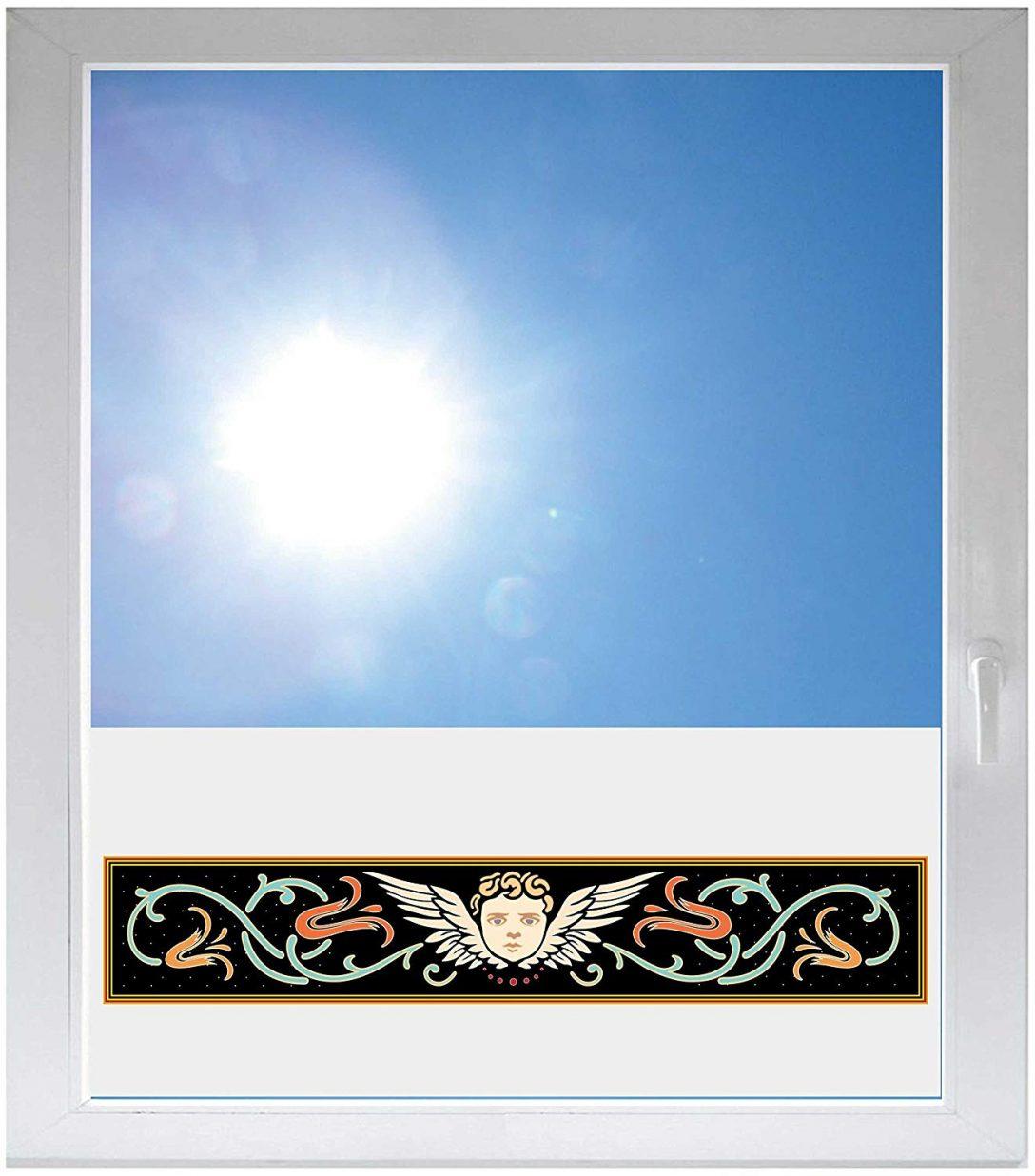 Large Size of Glasdekor Fensterfolie Mit Motiv Satiniert Blickdicht 800x500 Mm Fenster Erneuern Tauschen Aluminium Holz Alu Dampfreiniger Lüftung Dreh Kipp Jemako Rolladen Fenster Fenster Sichtschutzfolie