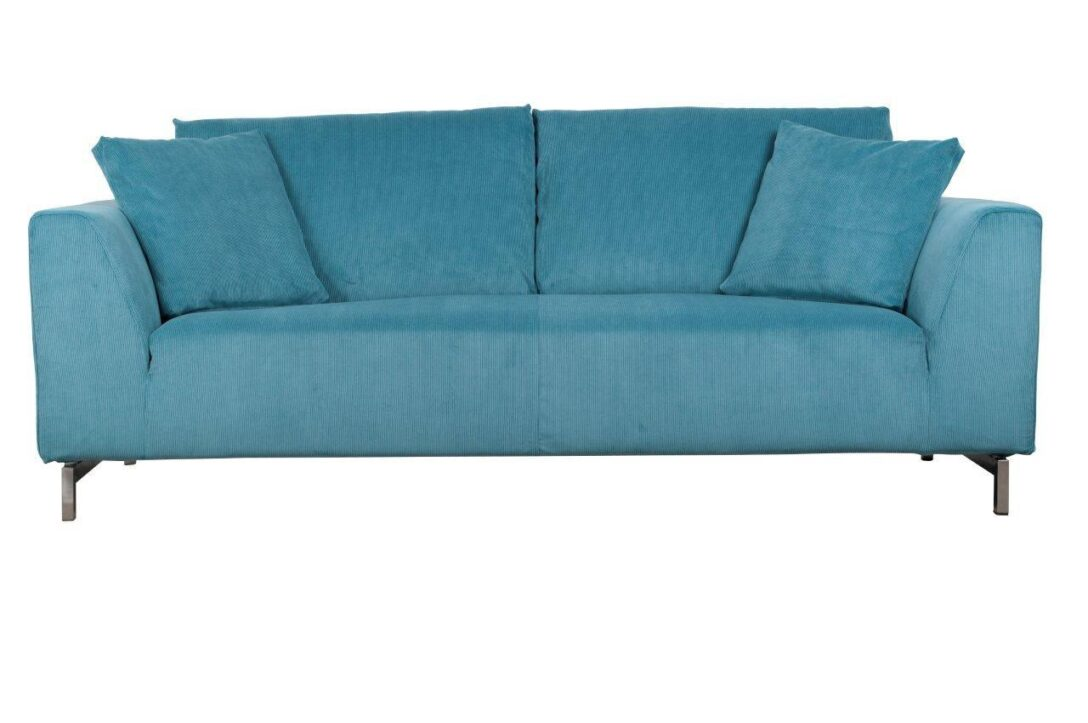 Large Size of Sofa 3 Sitzer Dragon Rib In Blau Von Zuiver Mit Cord Stoff U Form Günstige Englisch 3er Grau Kleines Wohnzimmer 2 Boxen Recamiere Sitzhöhe 55 Cm Garnitur Sofa Sofa Blau