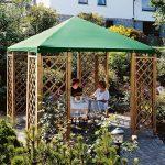 Gartenpavillon 3x3 M Aus Holz Mit Rankgitter Und Dachplane Grn Kinderspielturm Garten Holztisch Loungemöbel Trennwand Relaxliege Rattan Sofa Wohnen Abo Garten Garten Pavillion