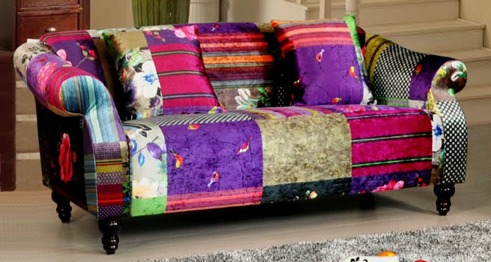 Full Size of Sofa Patchwork Bed Pink Dfs Doll The Range Ebay Couch Diy Cover Gumtree Slipcovers Covers Uk Multicoloured Fabric 3 Seater Avici Shout Home Affaire Big Sofa Sofa Patchwork