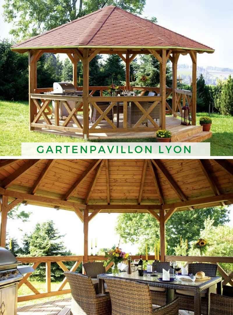 Full Size of Gartenpavillon Lyon 2 Douglasie Garten Pavillon Liege Brunnen Im Holzhäuser Sichtschutz Wpc Whirlpool Wassertank Paravent Lounge Möbel Trennwand Spaten Garten Garten Pavillon