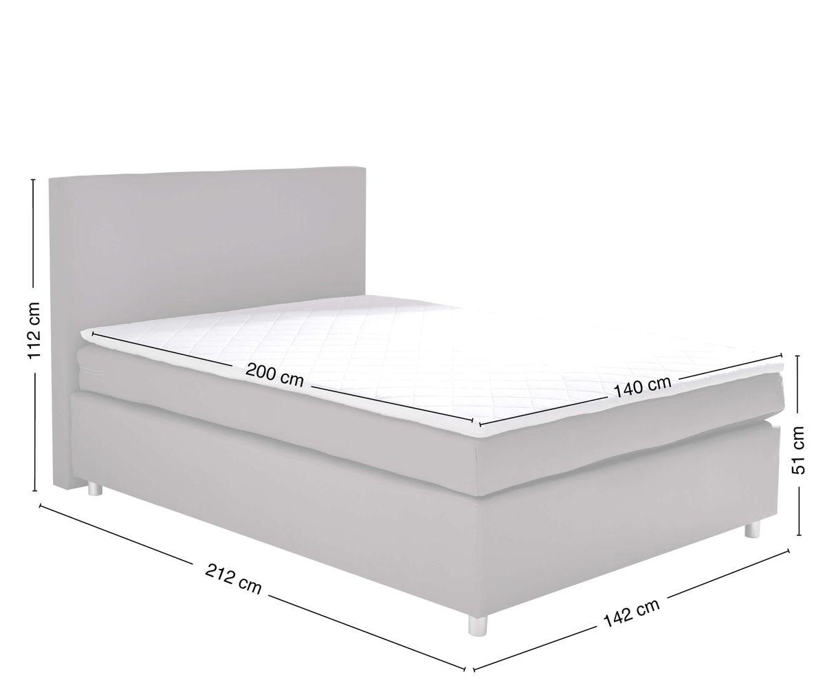 Full Size of Bett Matratze Paradizo Grau 140x200 Cm Und Topper Federkern Somnus Betten Landhaus Mit Lattenrost 160x220 120x200 Eiche Ausziehbett Joop 160 Weißes Modern Bett Bett Matratze