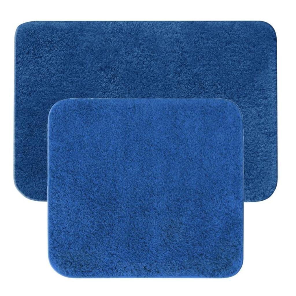 Badematten Garnitur 2 Teilig Badteppich 2er Set Blau Real Büffelleder Sofa Bett 200x200 Komforthöhe Xora Selber Bauen 180x200 L Form Polster Reinigen Mit
