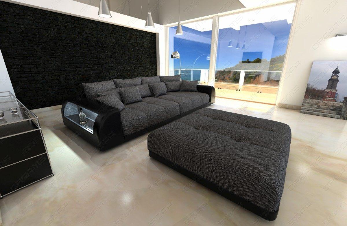 Full Size of Big Sofa Miami Couch Mit Beleuchteten Armlehnen Koinor Zweisitzer Schlaffunktion Federkern Leinen Esstisch Baumkante Wk Terassen Ikea Spannbezug Bezug Großes Sofa Sofa Mit Hocker