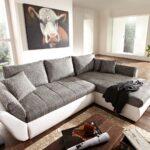 Sofa Grau Weiß Couch Loana Weiss 275x185 Cm Schlaffunktion Ottomane Variabel Rahaus Bett 120x200 Weiße Betten Weißes 140x200 Mit Verstellbarer Sitztiefe Sofa Sofa Grau Weiß