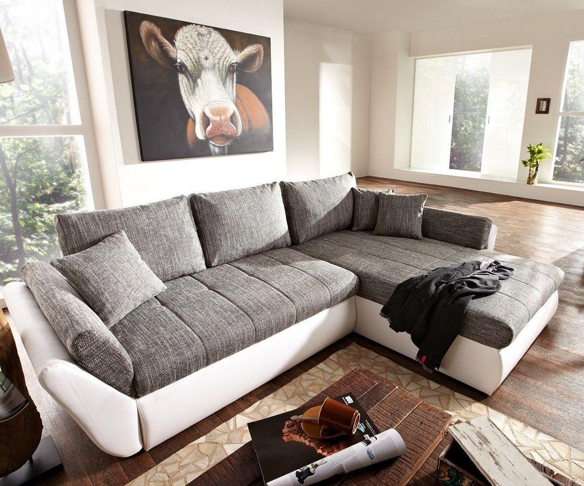 Full Size of Sofa Grau Weiß Couch Loana Weiss 275x185 Cm Schlaffunktion Ottomane Variabel Rahaus Bett 120x200 Weiße Betten Weißes 140x200 Mit Verstellbarer Sitztiefe Sofa Sofa Grau Weiß