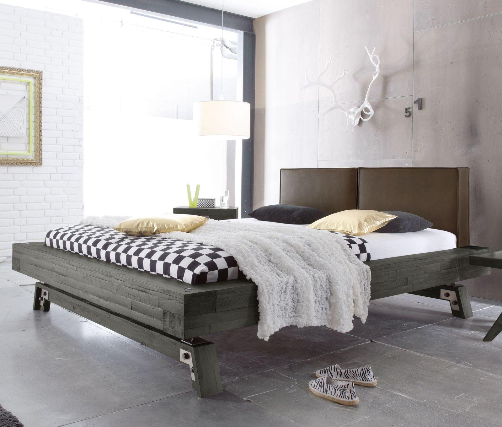 Full Size of Graues Bett Massivholz Z B In Grau Aus Akazie Salo Bettende Betten überlänge Kopfteile Für Balken Weißes 160x200 Kopfteil Selber Bauen Mit Rutsche Komplett Bett Graues Bett