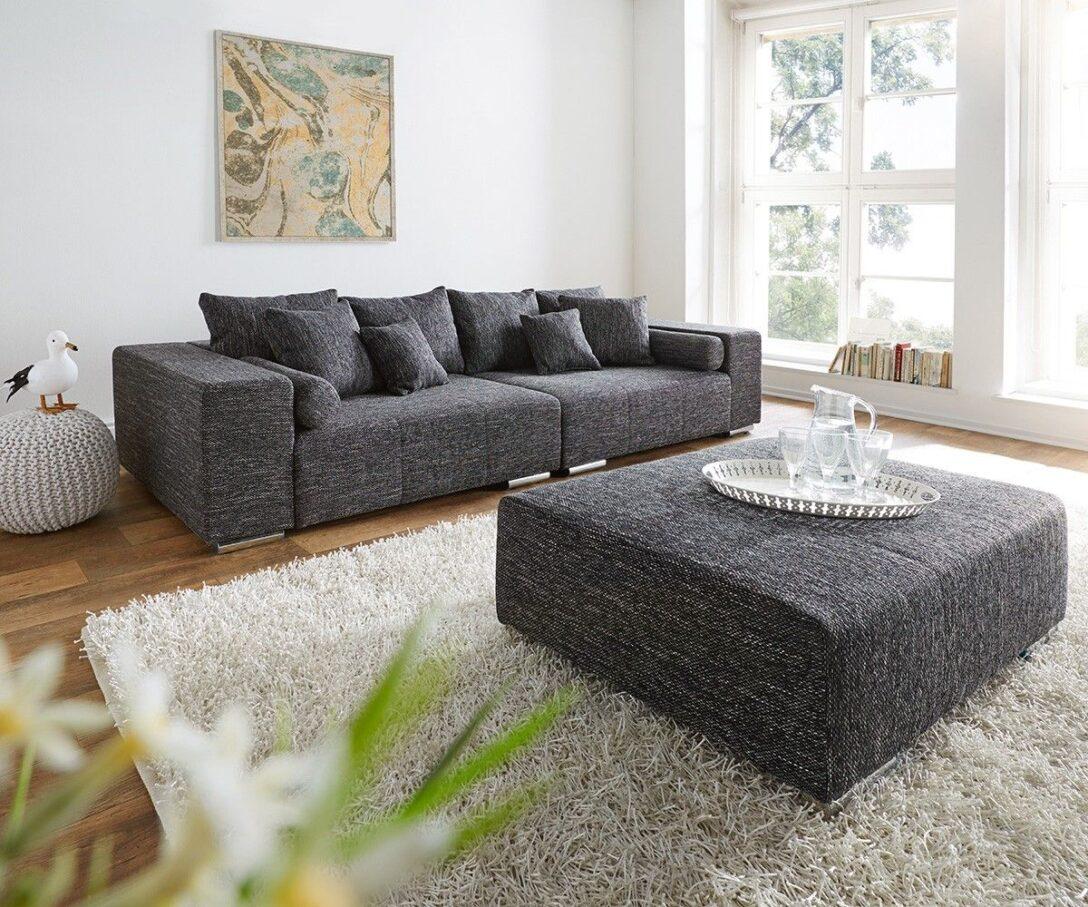 Large Size of Big Sofa Mit Hocker Marbeya 280x115 Cm Schwarz Couch Schwarze Schreibtisch Regal Groß Stoff Grau Ligne Roset Bett 200x200 Bettkasten Boxspring Schlaffunktion Sofa Big Sofa Mit Hocker