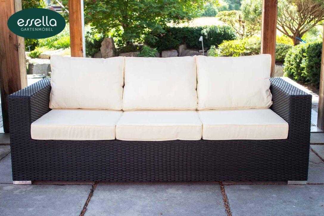 Large Size of Polyrattan Sofa Gartensofa Tchibo Garden Set Outdoor 2 Sitzer Balkon Couch Ausziehbar 2 Sitzer Lounge Essella Bahamas Flachgeflecht Too Design Kunstleder Sofa Polyrattan Sofa