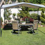 Gartenüberdachung Garten Gartenüberdachung Leco Pavillon 350x350cm Terrassen Garten Berdachung Sonnenschutz