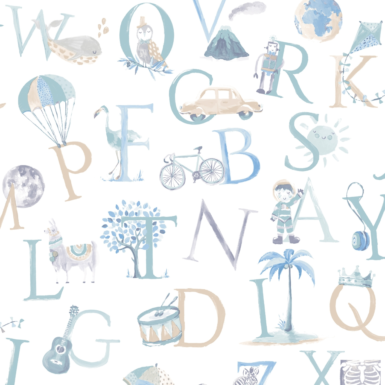 Full Size of Tapeten Kinderzimmer Grandeco Vliestapete Buchstaben Grn Blau Beige Bei Fototapeten Wohnzimmer Sofa Regal Weiß Für Die Küche Regale Ideen Schlafzimmer Kinderzimmer Tapeten Kinderzimmer