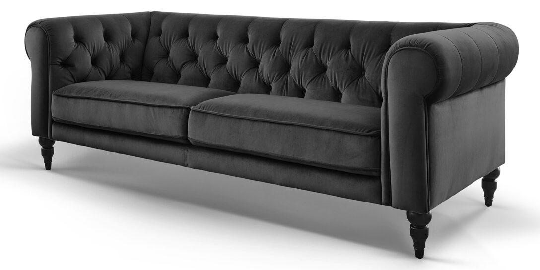 Large Size of 3 Sitzer Chesterfield Samt Hudson Sofa Garnitur Modernes Mit Elektrischer Sitztiefenverstellung 2 Teilig Ausziehbar Stoff Grau Big Günstig Schillig Landhaus Sofa Sofa Samt