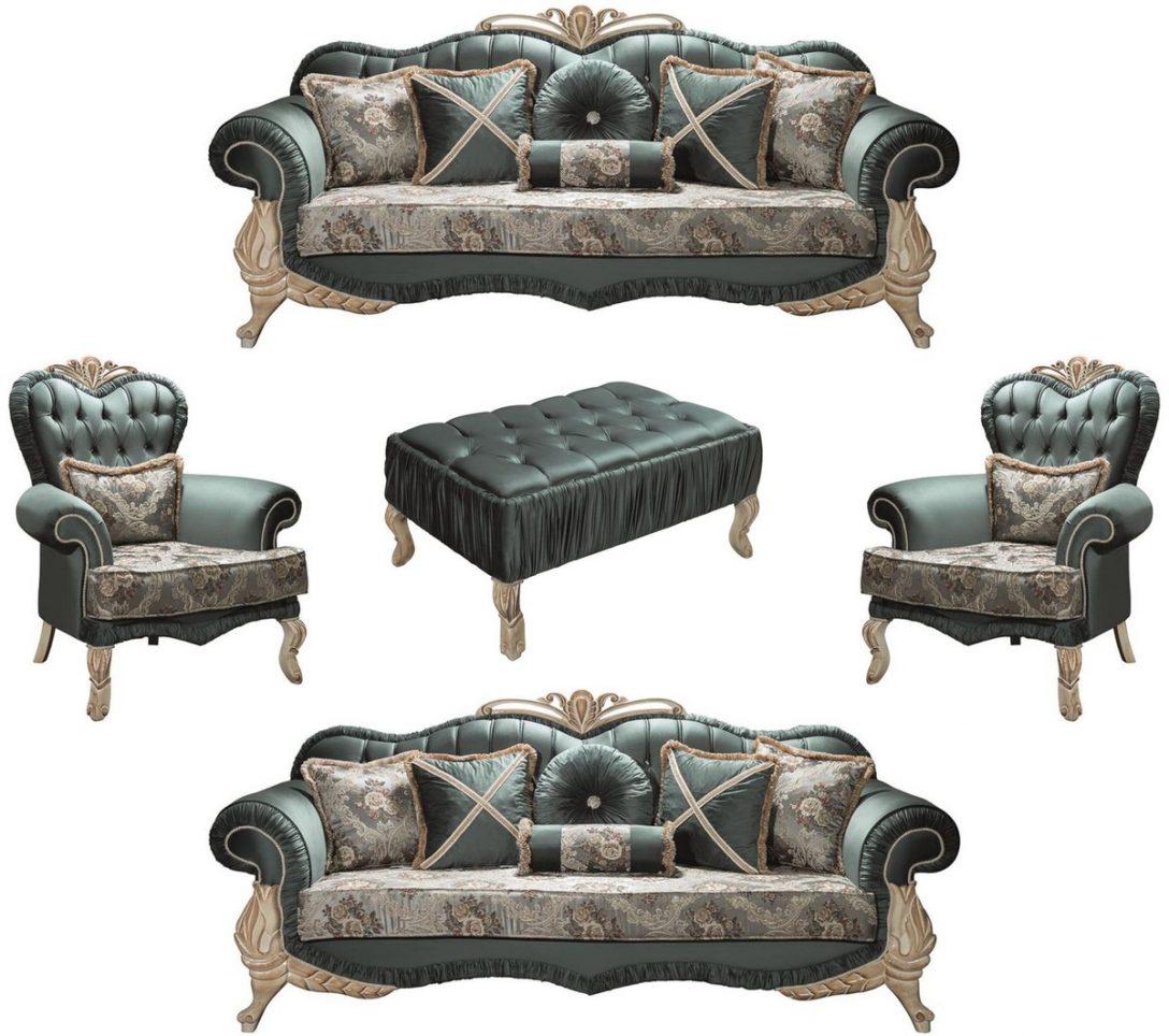 Large Size of Barock Sofa Casa Padrino Luxus Wohnzimmer Set Grn Creme Beige 2 Schilling Garnitur Teilig Mit Relaxfunktion 3 Sitzer Hocker Kissen Jugendzimmer U Form Sofa Barock Sofa