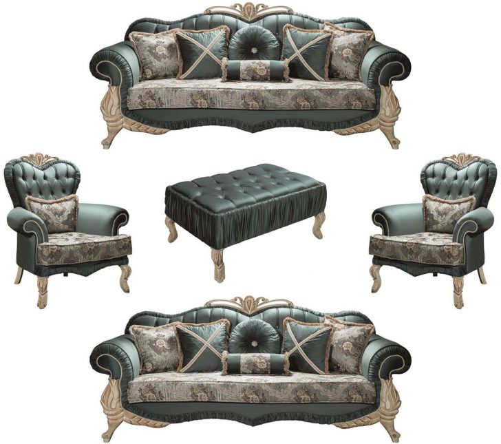 Medium Size of Barock Sofa Casa Padrino Luxus Wohnzimmer Set Grn Creme Beige 2 Schilling Garnitur Teilig Mit Relaxfunktion 3 Sitzer Hocker Kissen Jugendzimmer U Form Sofa Barock Sofa