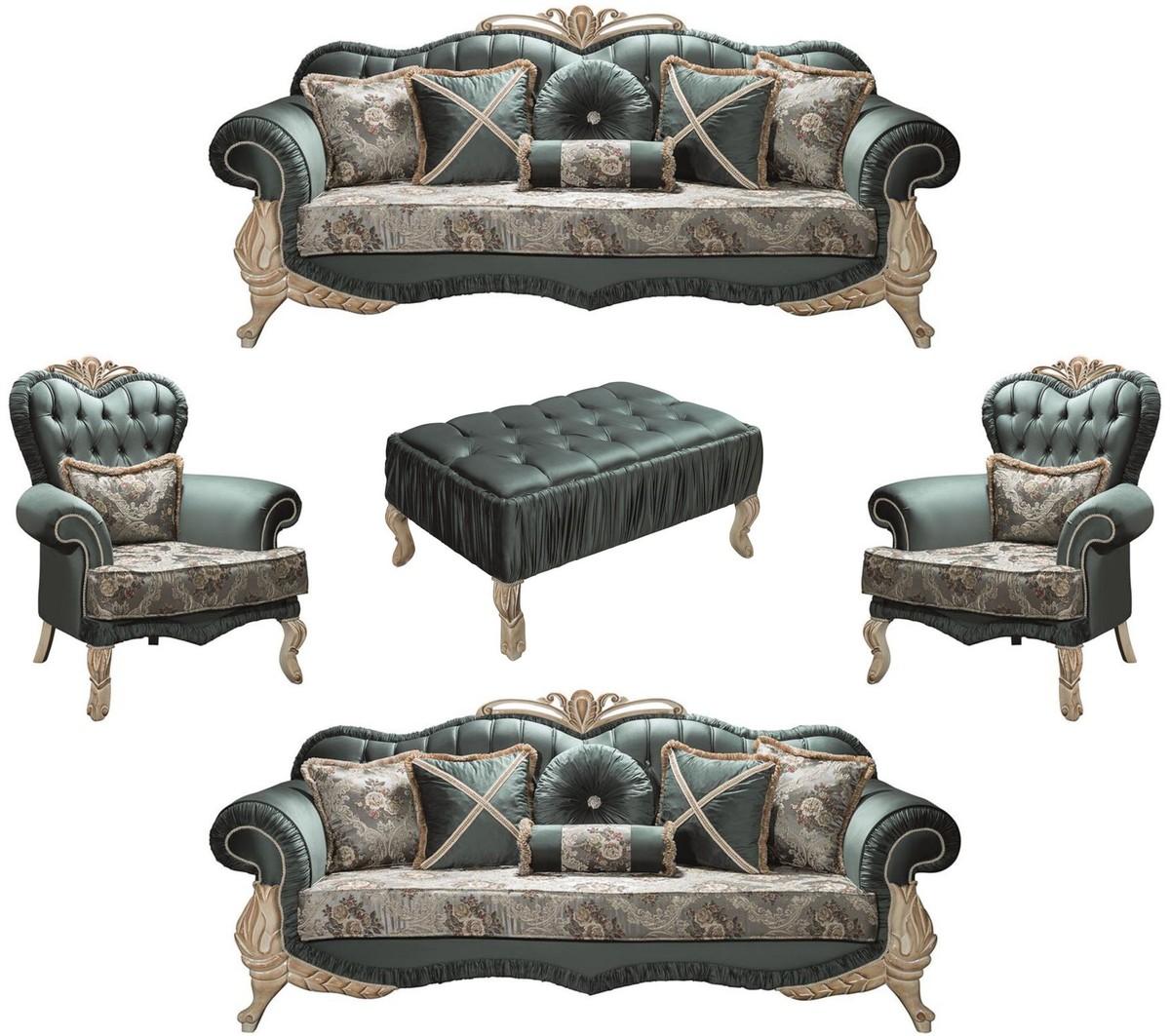 Full Size of Barock Sofa Casa Padrino Luxus Wohnzimmer Set Grn Creme Beige 2 Schilling Garnitur Teilig Mit Relaxfunktion 3 Sitzer Hocker Kissen Jugendzimmer U Form Sofa Barock Sofa