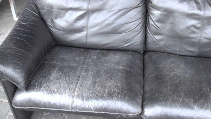Medium Size of Lederpflege Sofa Couch Hausmittel Rossmann Dm Glattleder Schwarz Berarbeitung Von Altem Ledersofa Teil 1 Youtube Stoff Grau Ottomane Mega Abnehmbarer Bezug Sofa Lederpflege Sofa