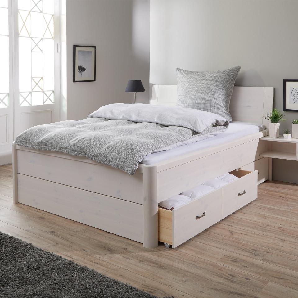 Full Size of Bett Mit Schubladen Weiß Lyngby 180x200 Konfigurieren Betten Frankfurt Weißes Schreibtisch Regal Dormiente 100x200 220 X Massivholz Niedrig Bonprix 160x200 Bett Bett Mit Schubladen Weiß