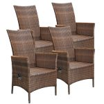 Garten Sessel Set 4 Stck Relasessel Sthle Polyrattan Lounge Möbel Beistelltisch Versicherung Mastleuchten Bewässerung Relaxsessel Trennwand Spielgeräte Und Garten Garten Relaxsessel