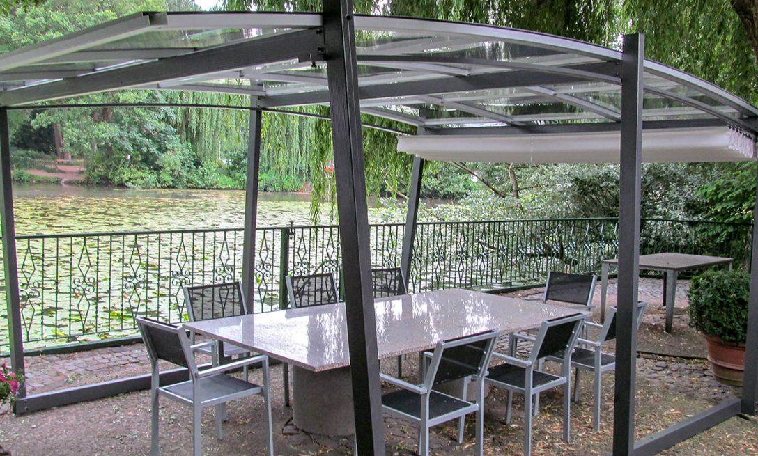 Large Size of Gartenüberdachung Freistehende Pergola Mit Transparentem Dach Sakura Garten Gartenüberdachung