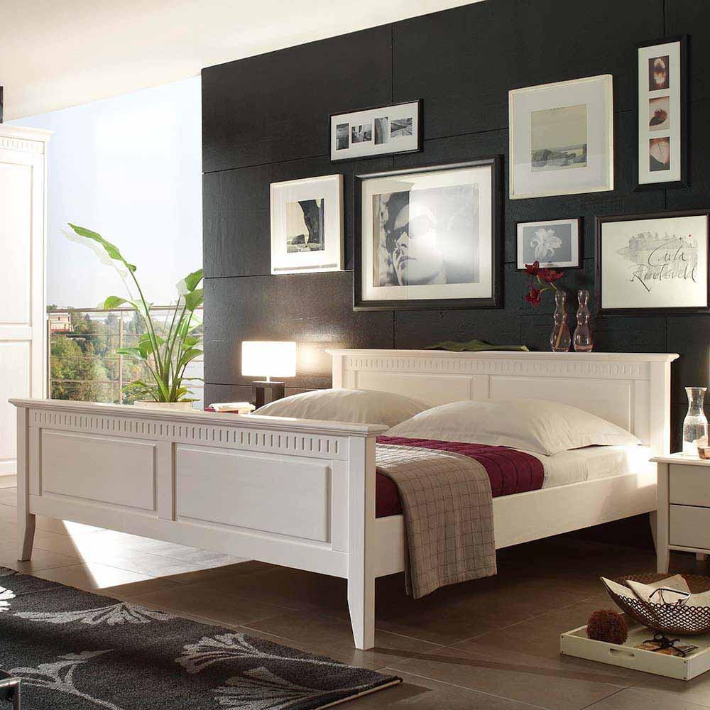 Full Size of Bett 200x200 Weiß Massivholzbett Orelia In Wei Aus Pinie Pharao24de Billige Betten Mit Bettkasten Bette Duschwanne Komplett Komforthöhe 100x200 Hängeschrank Bett Bett 200x200 Weiß