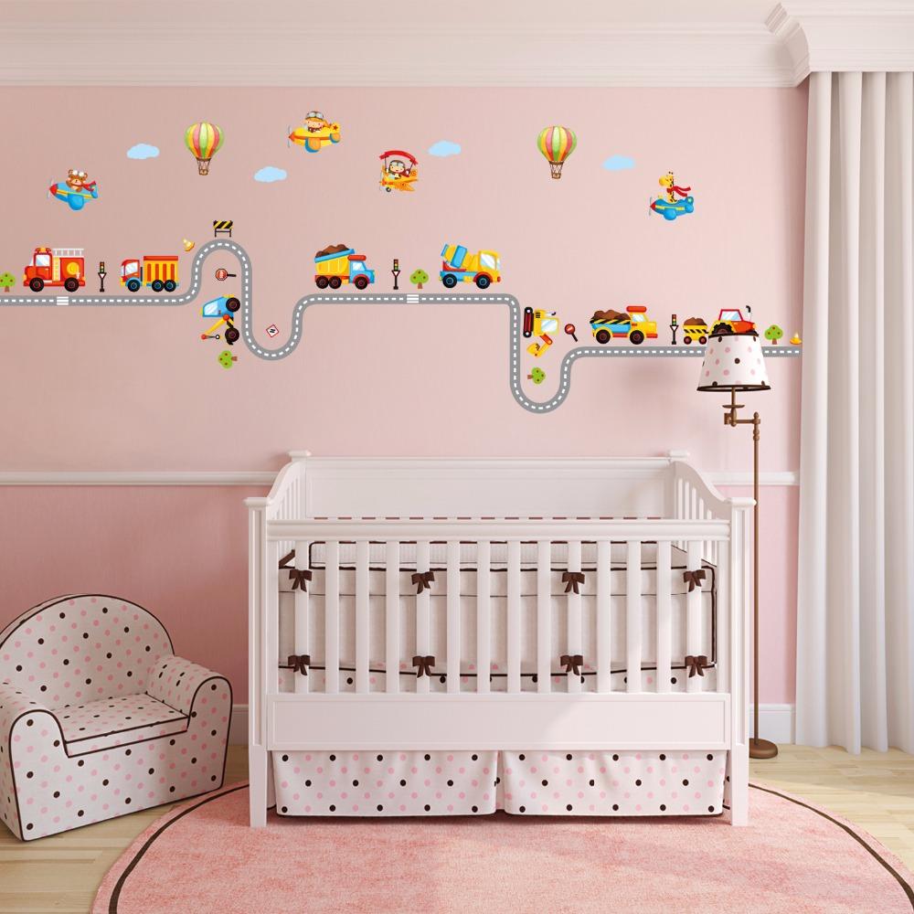 Full Size of Wandtattoo Babyzimmer Kinderzimmer Strae Bagger Ampel Flugzeug Regale Regal Sofa Weiß Kinderzimmer Wandaufkleber Kinderzimmer