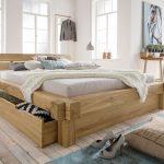 Www.betten.de Bett Designer Balkenbett Mit Schubkasten Echtholz Wildeiche Doba
