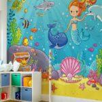 Kinderzimmer Tapete Vliestapeten Premium Meerjungfrau Regale Tapeten Schlafzimmer Fototapeten Wohnzimmer Für Küche Regal Weiß Sofa Ideen Die Kinderzimmer Tapeten Kinderzimmer