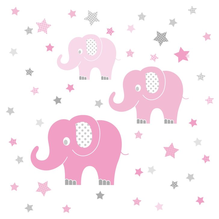 Medium Size of Wandaufkleber Kinderzimmer Dinki Balloon Wandsticker Elefanten Rosa Grau 48 Regal Weiß Sofa Regale Kinderzimmer Wandaufkleber Kinderzimmer