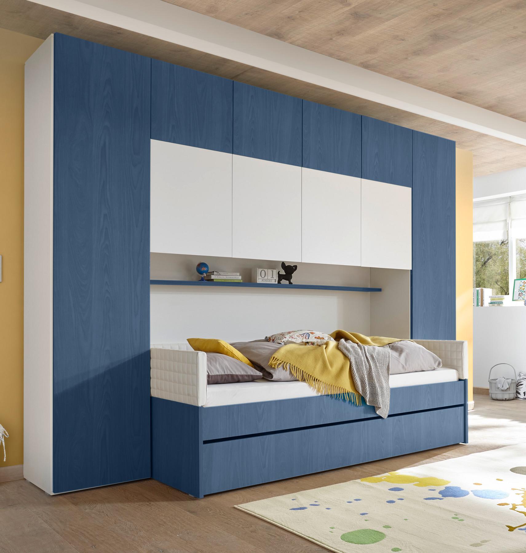Full Size of Bett Mit Bettbrcke Weiss Blau Joylin24 Designermbel Moderne Somnus Betten Kiefer 90x200 Badewanne Bette Paradies Wickelbrett Für Münster Team 7 Roba Bett Jugendzimmer Bett