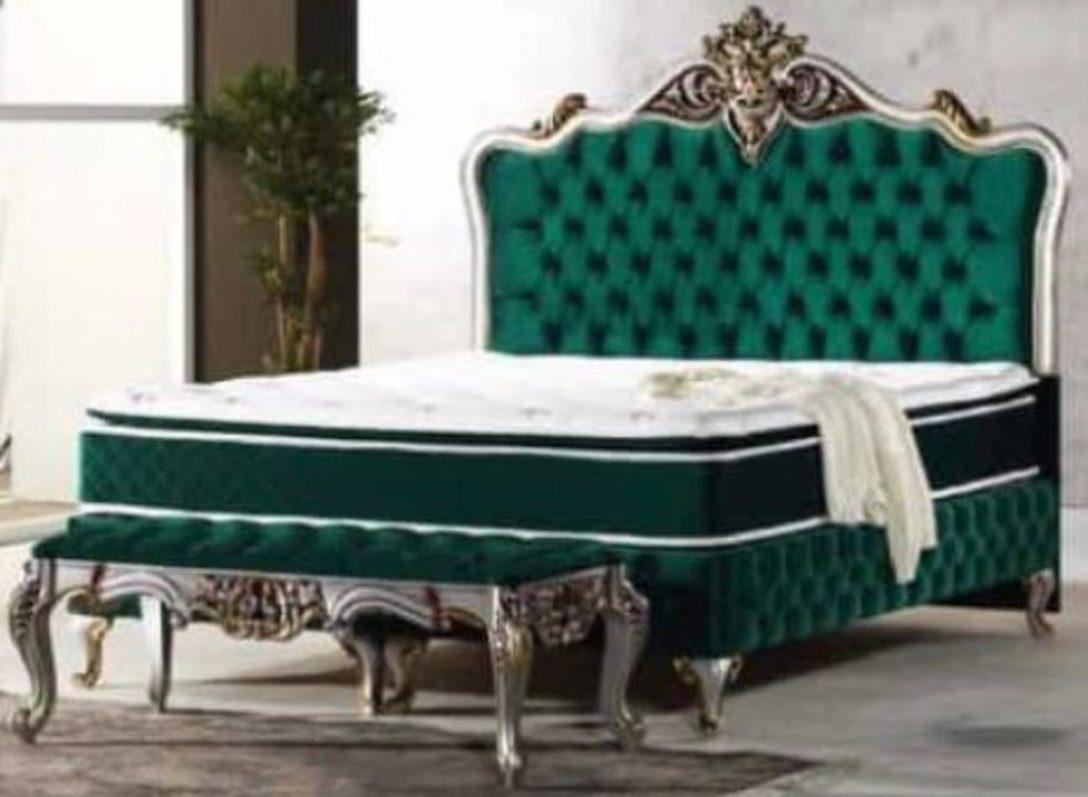 Large Size of Casa Padrino Barock Doppelbett Grn Silber Antik Gold Bett Weiß 180x200 Oschmann Betten Ausstellungsstück Platzsparend Kleinkind Mit Stauraum Rauch Massivholz Bett Bett Barock