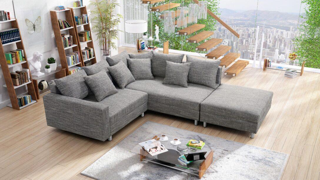 Large Size of Modernes Sofa Couch Ecksofa Eckcouch In Gewebestoff Hellgrau Mit Stoff Polsterreiniger Big Leder Sam Dreisitzer überzug Ikea Schlaffunktion Schilling Hay Mags Sofa Modernes Sofa