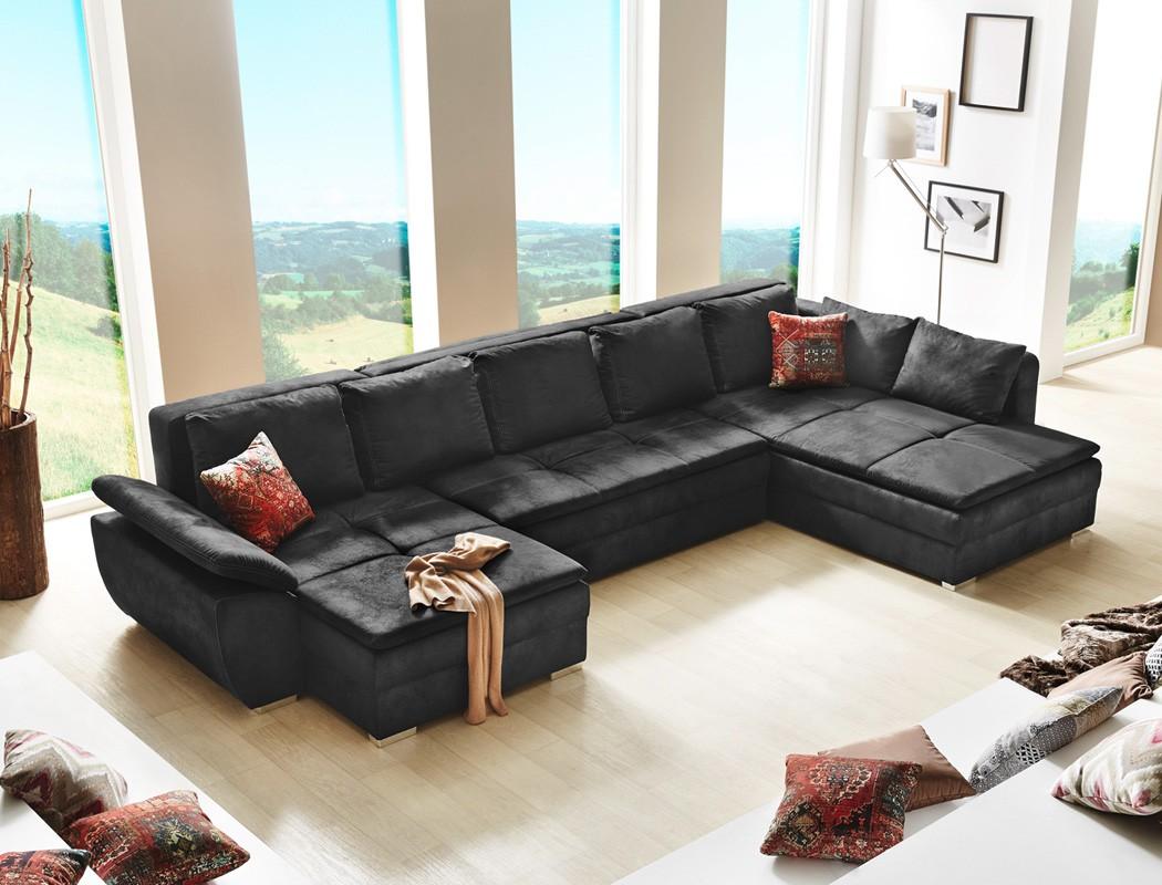 Full Size of Sofa U Form Wohnlandschaft Sarab Schwarz 395x210 Cm Schlafsofa Couch Sri Lanka Rundreise Und Baden Garten Loungemöbel Leder Braun Junggesellenabschied T Shirt Sofa Sofa U Form